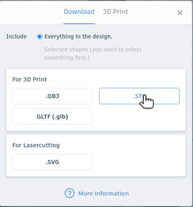 Export the New STL File