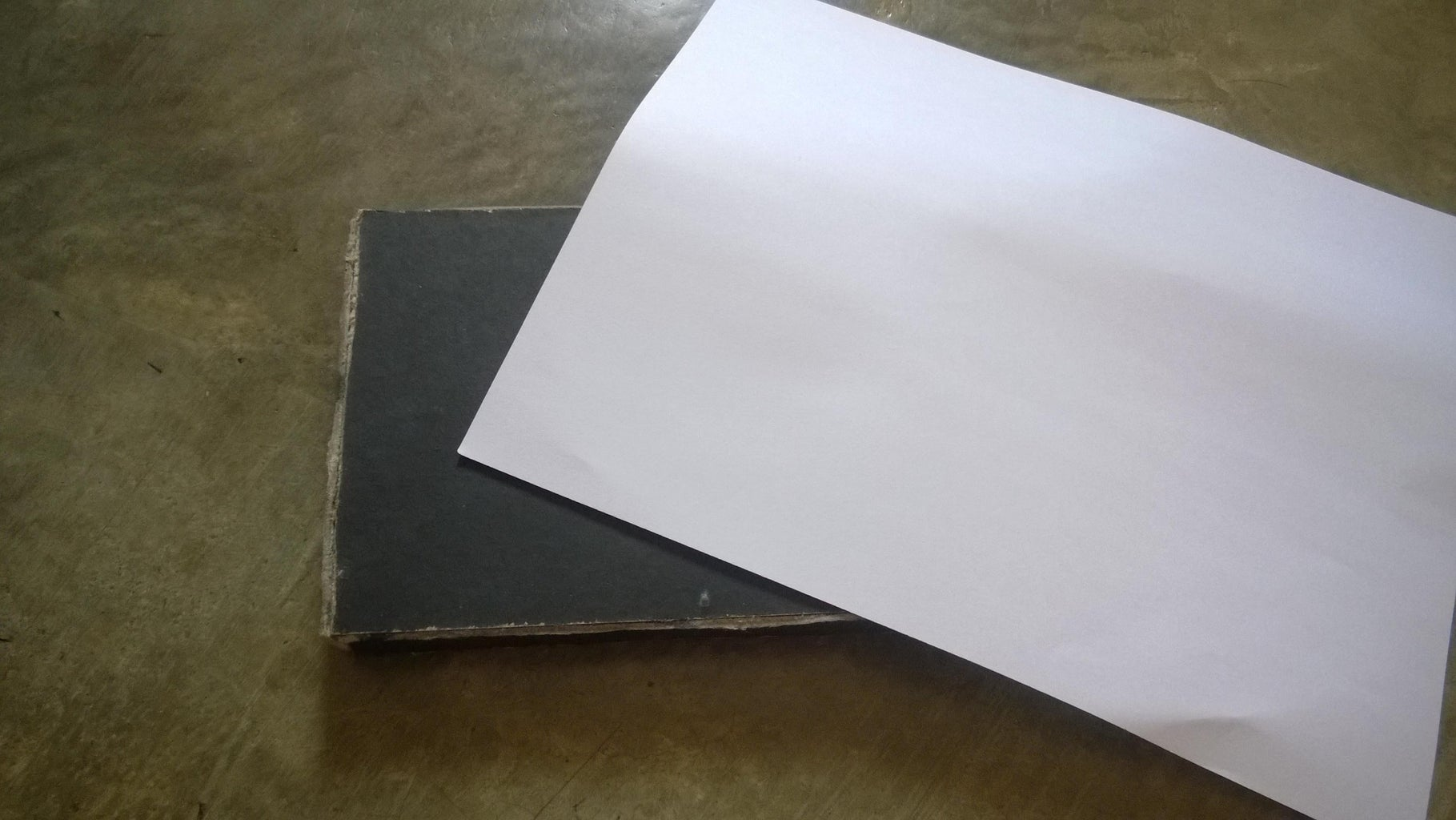 Cover the Wood With White Paper