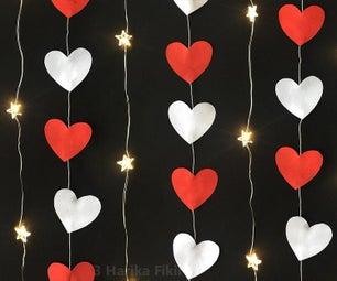 Diy Heart Garland Valentine's Day Decoration Ideas
