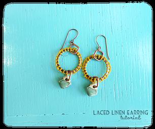 Laced Linen Earring