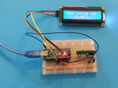 Connect the NANO, the Receiver and the I2C LCD