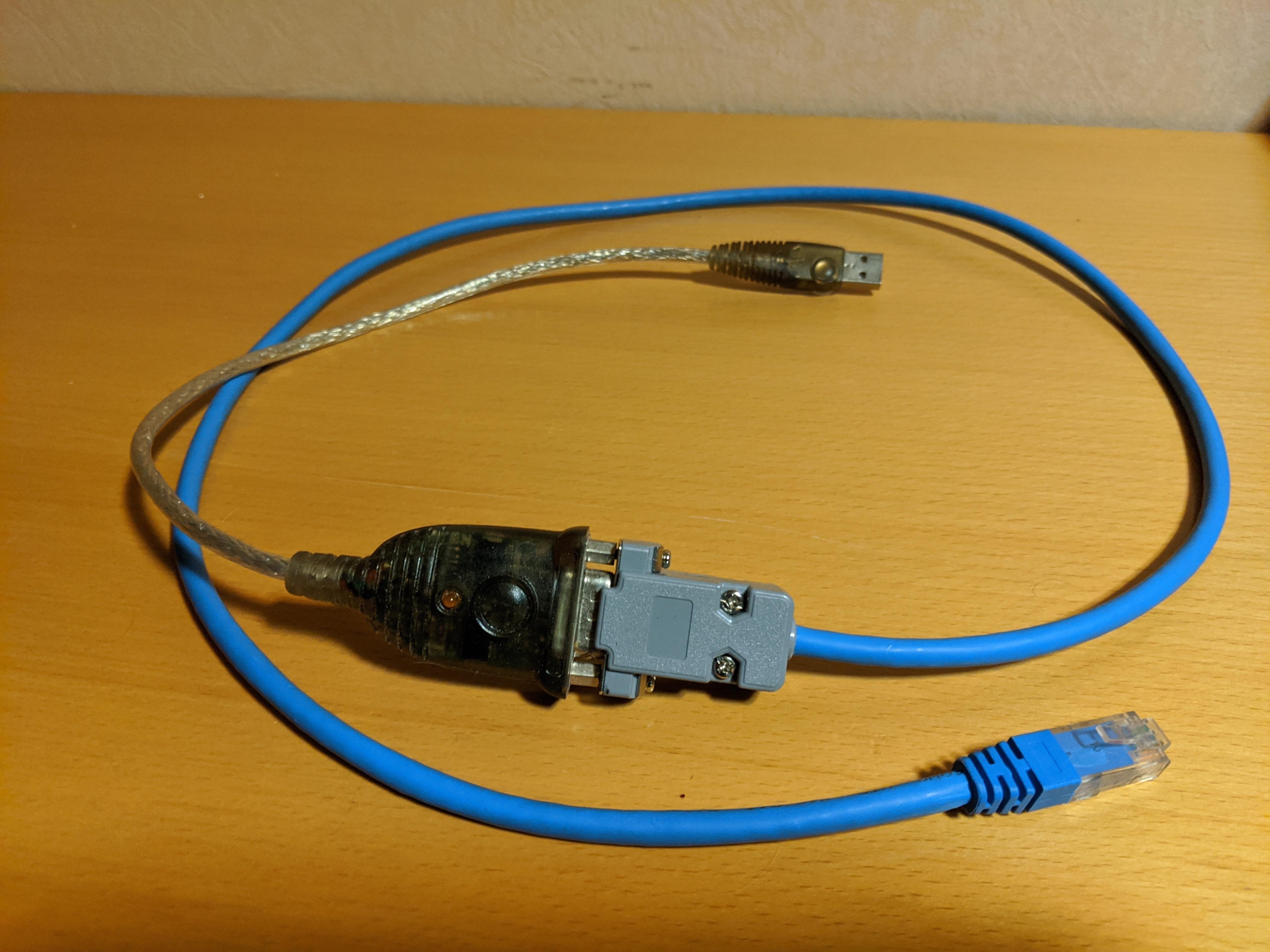 Simple RJ45  DB9 Cisco Console Cable