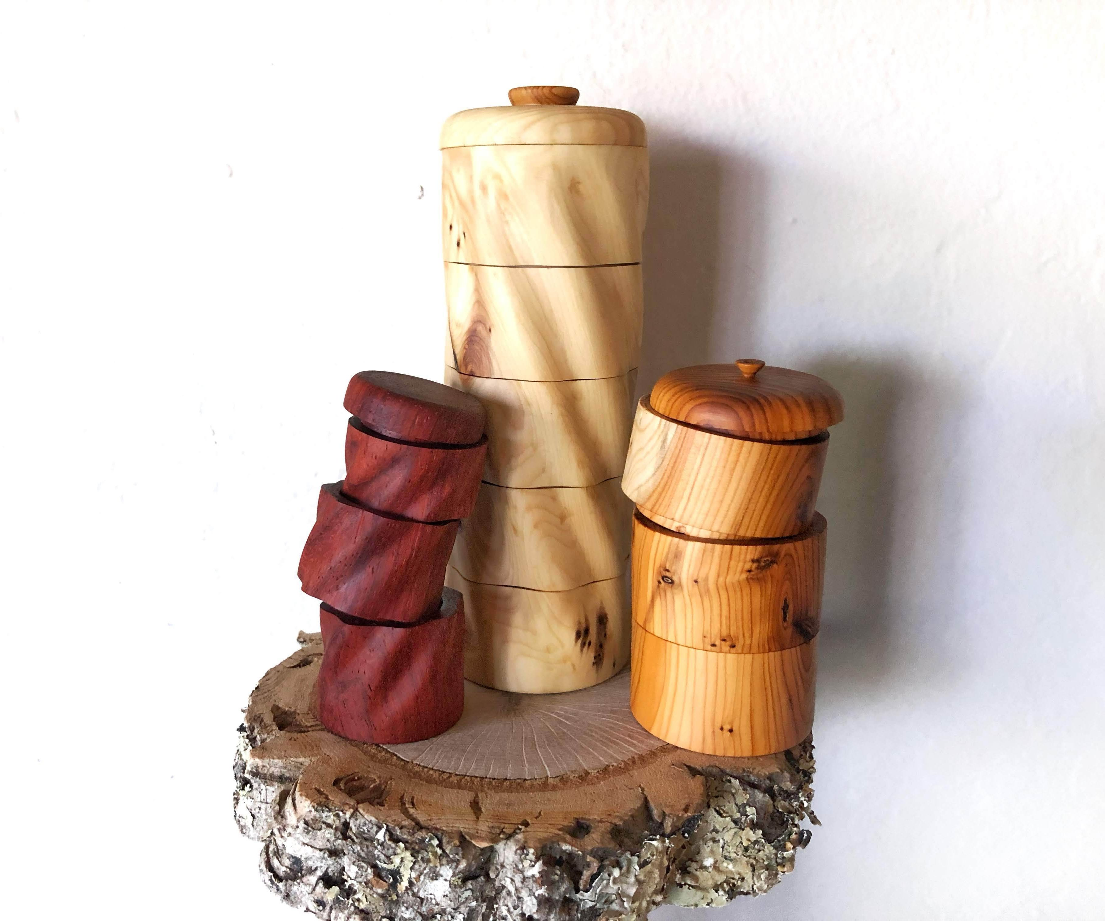 Wood Turned Multitier Boxes