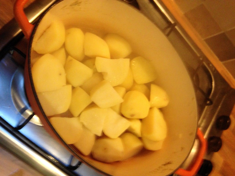 Preboil the Potatoes