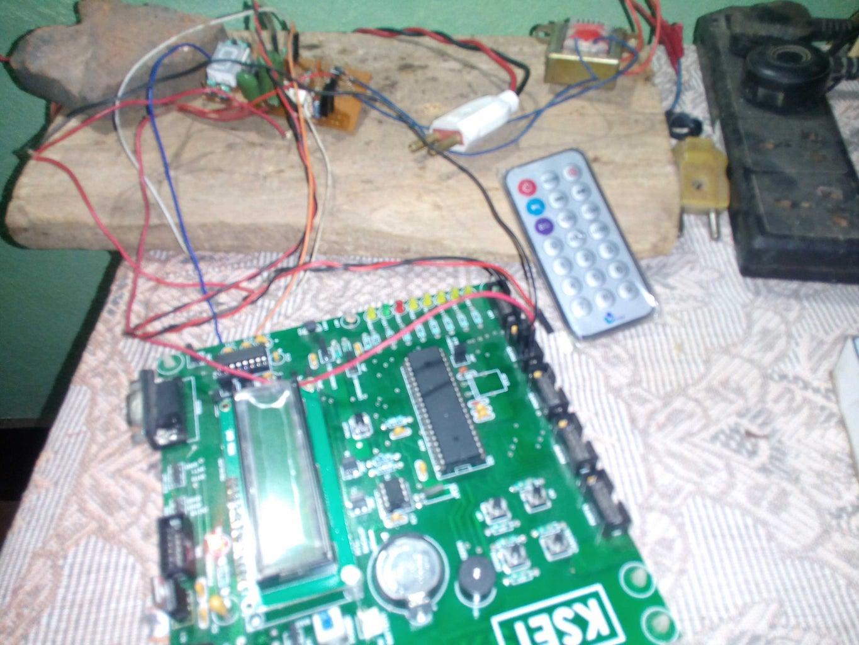 INFRA RED REMOTE CONTROLLED FAN REGULATOR Using ATMEGA32 MCU