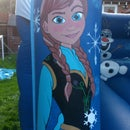 painting onto a bouncy castle