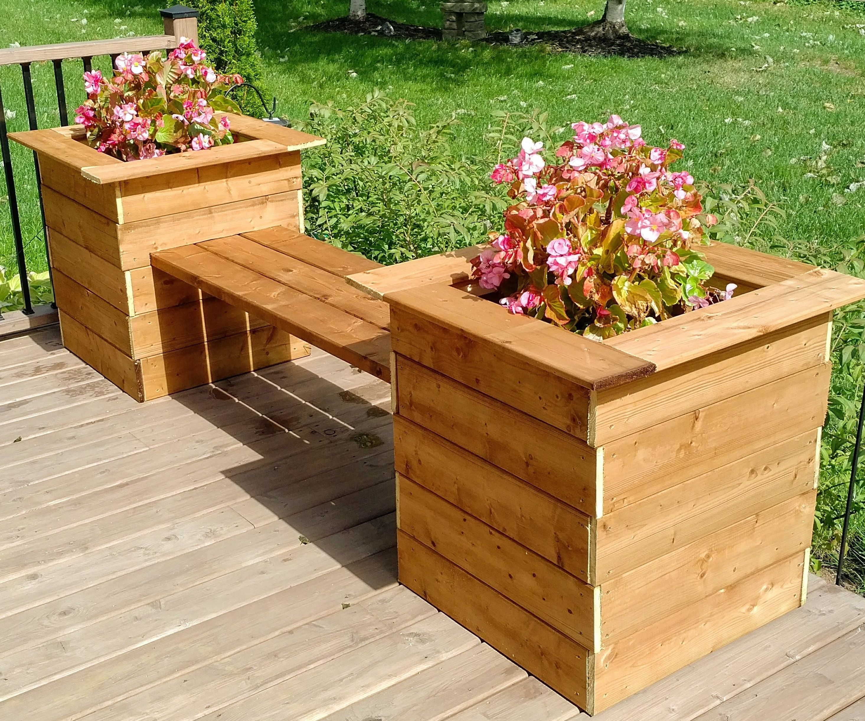 Simple Planter Bench 15 Steps With Pictures Instructables