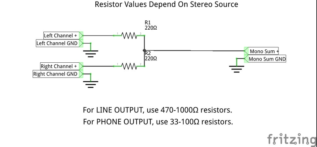 Simple Way To Convert Stereo To Mono 5 Steps With Pictures Instructables