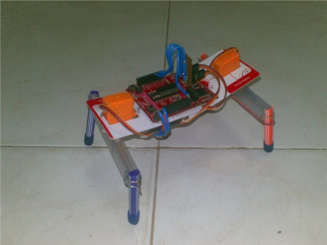 Two servo walking robot controlled by TI launchpad