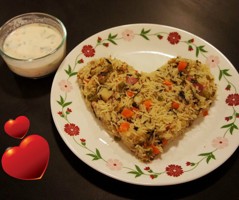 Vegetable Rice Cooked with Coconut Milk