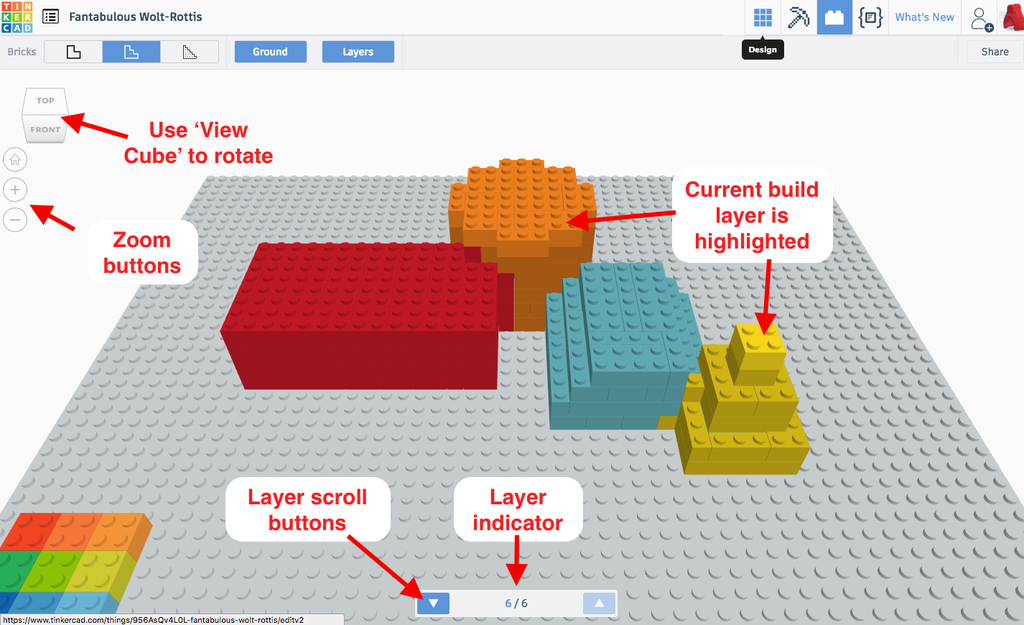 Using the Layer View to Review the Brick Layout