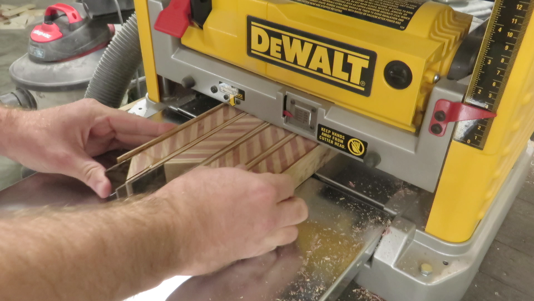 Cut Veneer Strips to Accentuate the Inlay