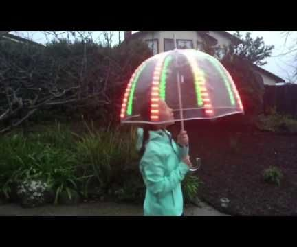 Rainbo Skyz, a Hackable LED Umbrella