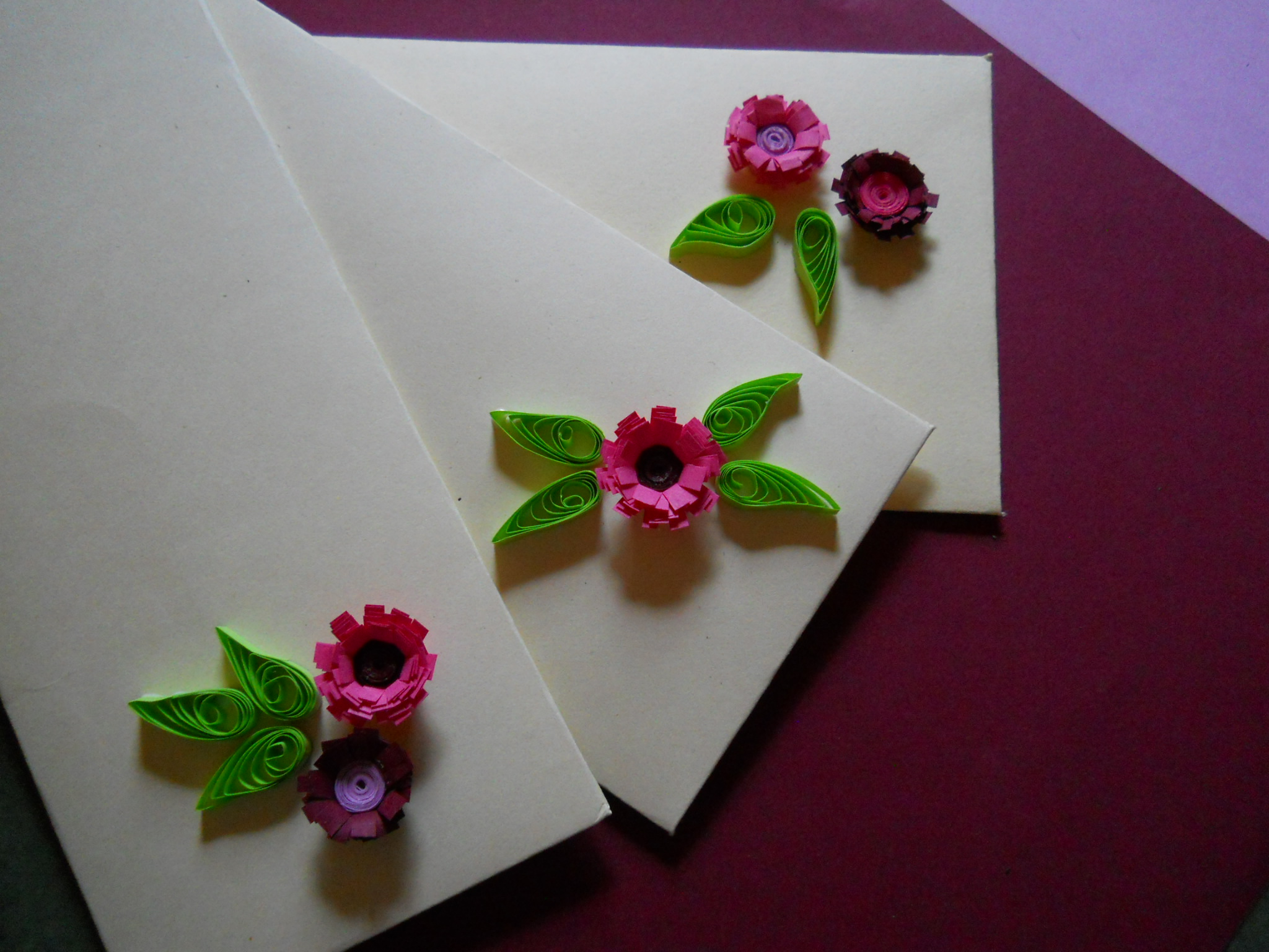 Simple Flower and Leaf Quilling Without a Quilling Tool