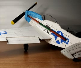 P51 Mustang Rubber Band