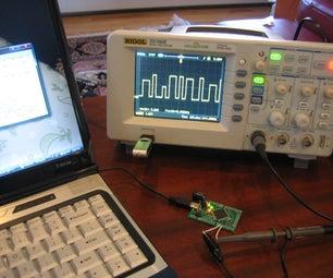 Atmel Xmega USB/Serial Arbitrary Waveform Generator