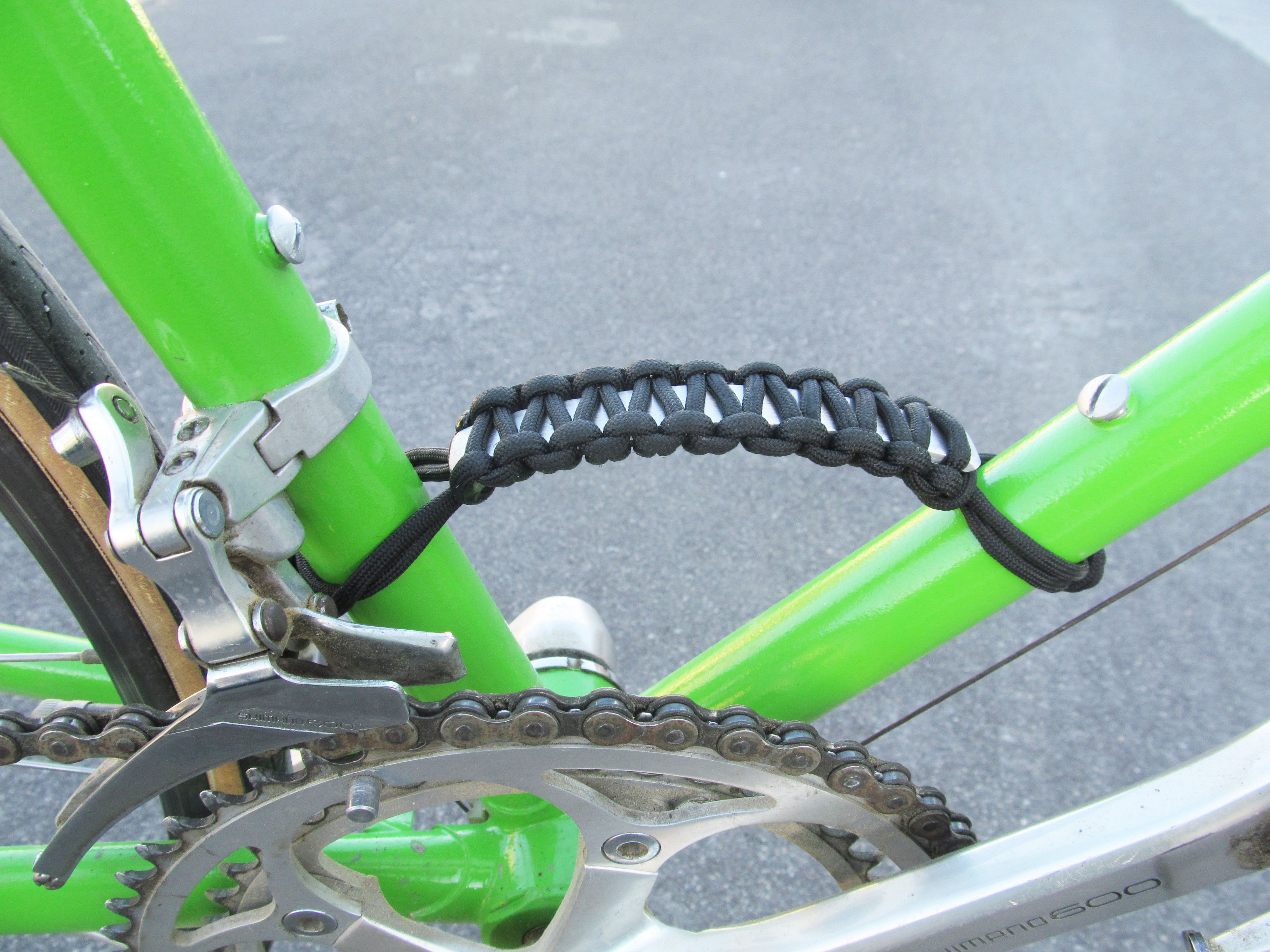 Paracord Bike Frame Handle