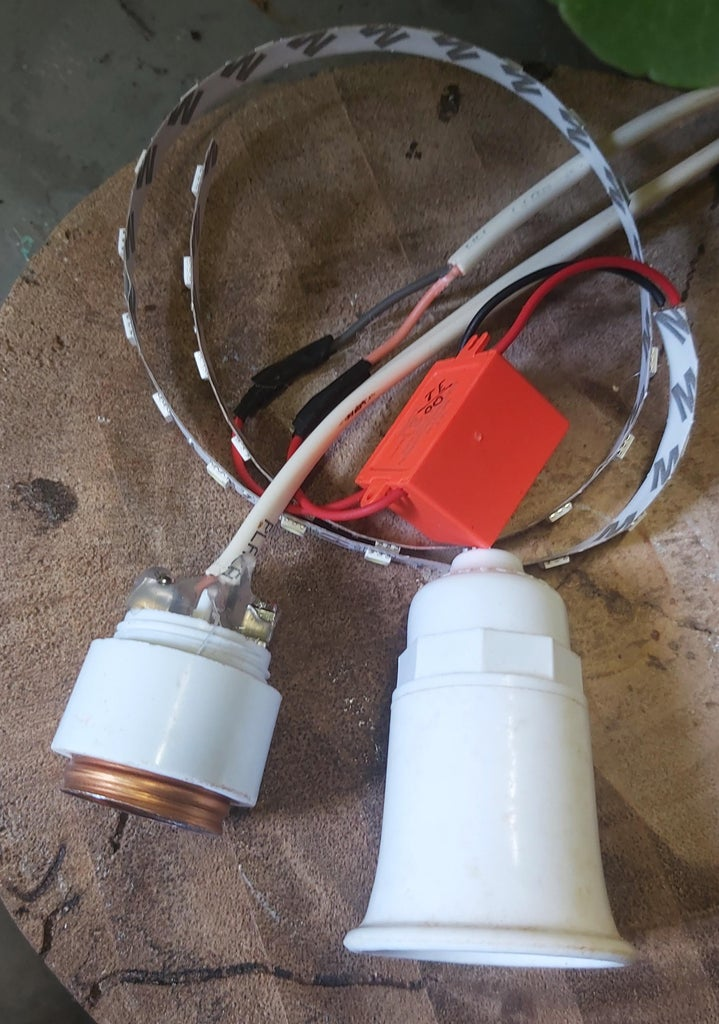 Modify the Bulb Holder and Cut the Recess in Top Piece