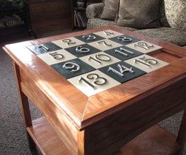 Sliding Puzzle Secret Compartment Table