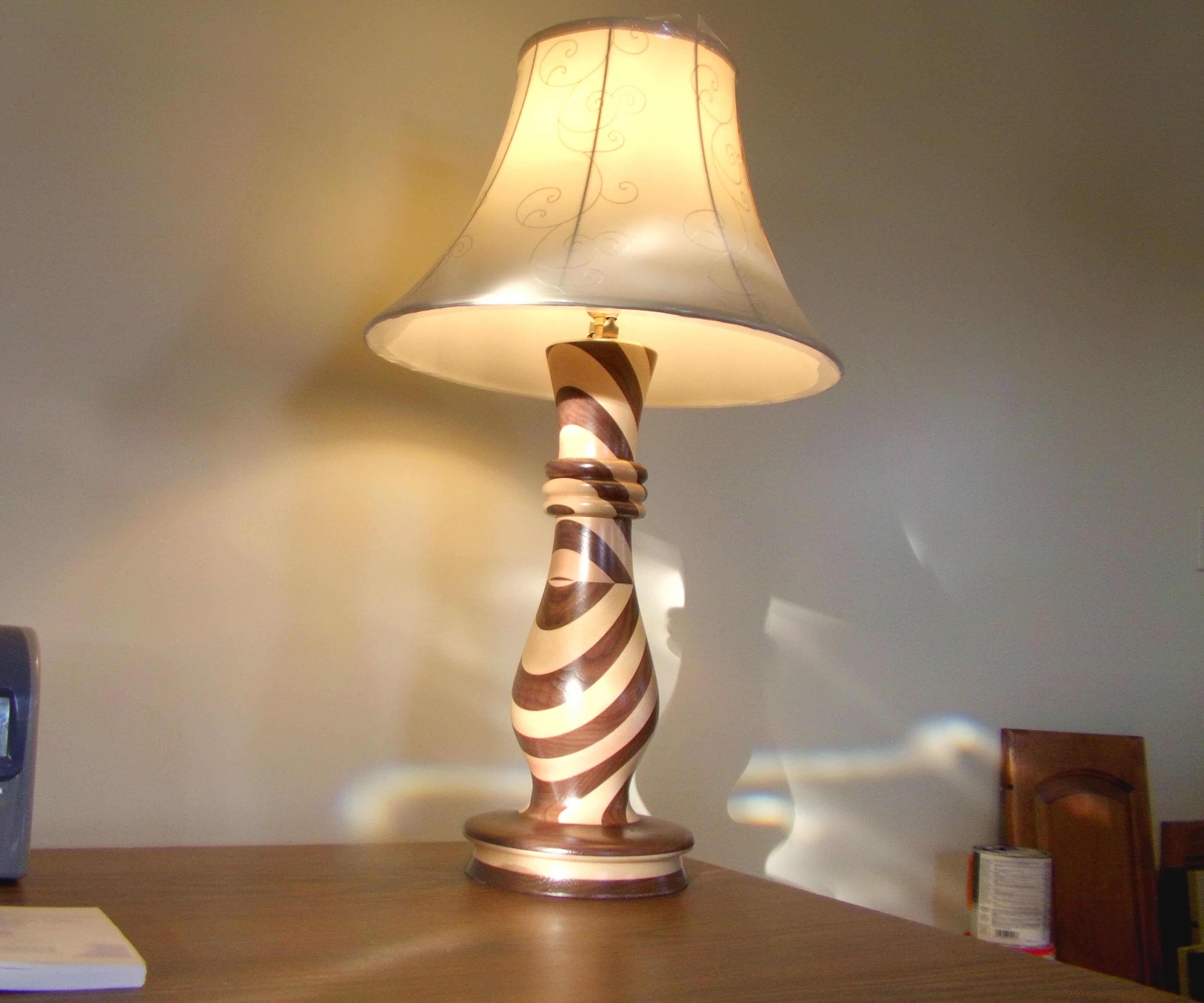 Walnut and Maple Lamp