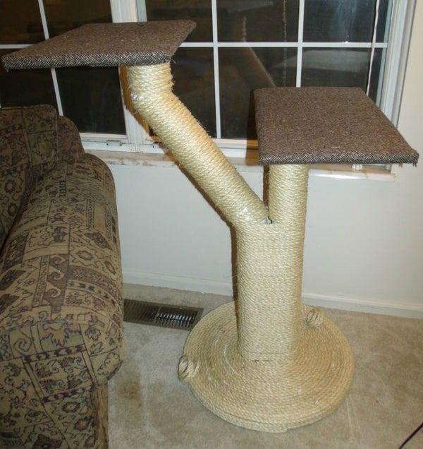 Two Platform Sisal Rope Cat Tree