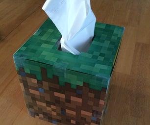 Minecraft Tissue Box Cover