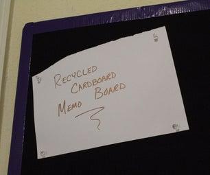 Recycled Cardboard Memo Board