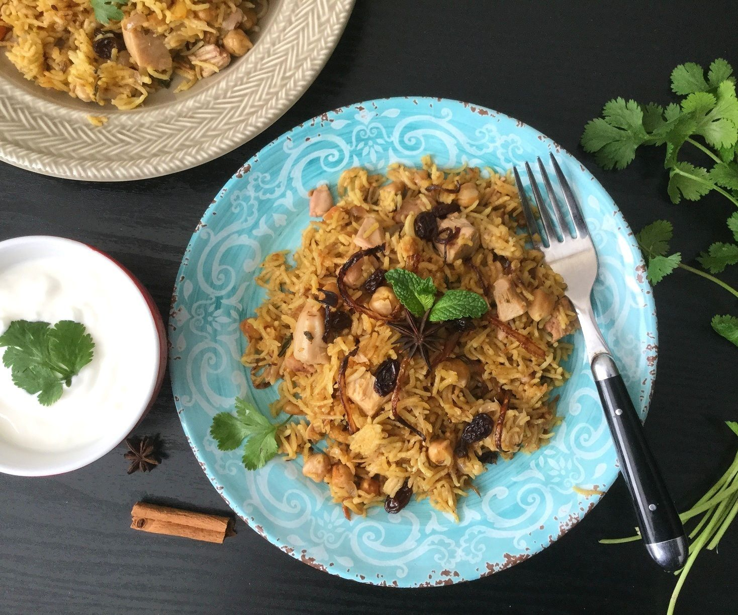 Pressure Cooker Jackfruit and Chickpea Pulao/Pilaf