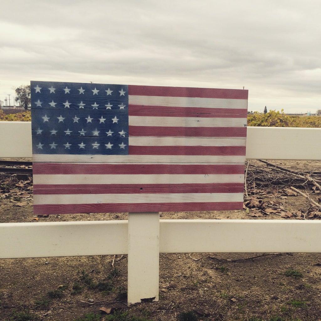 Recycled Wood USA Flag
