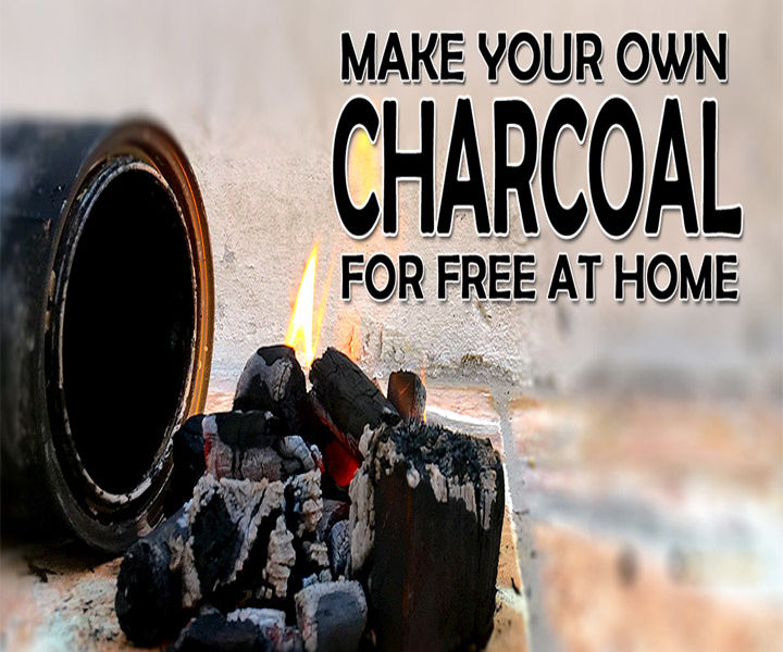 Make your own charcoal at home (Video)