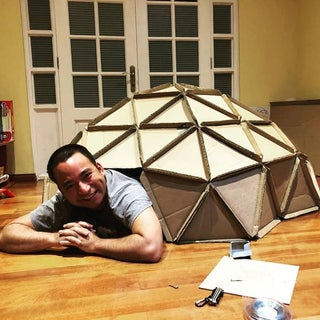 Geodesic Dome From Laser-Cut Cardboard