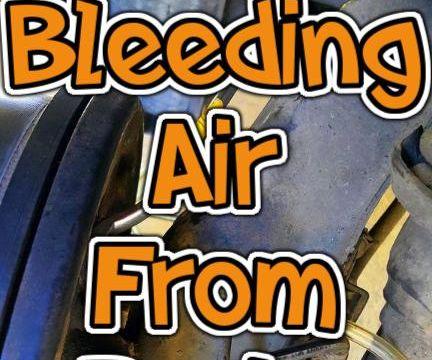 Bleeding Air From a Brake Line.