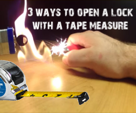 3 WAYS TO OPEN a LOCK WITH a TAPE MEASURE.