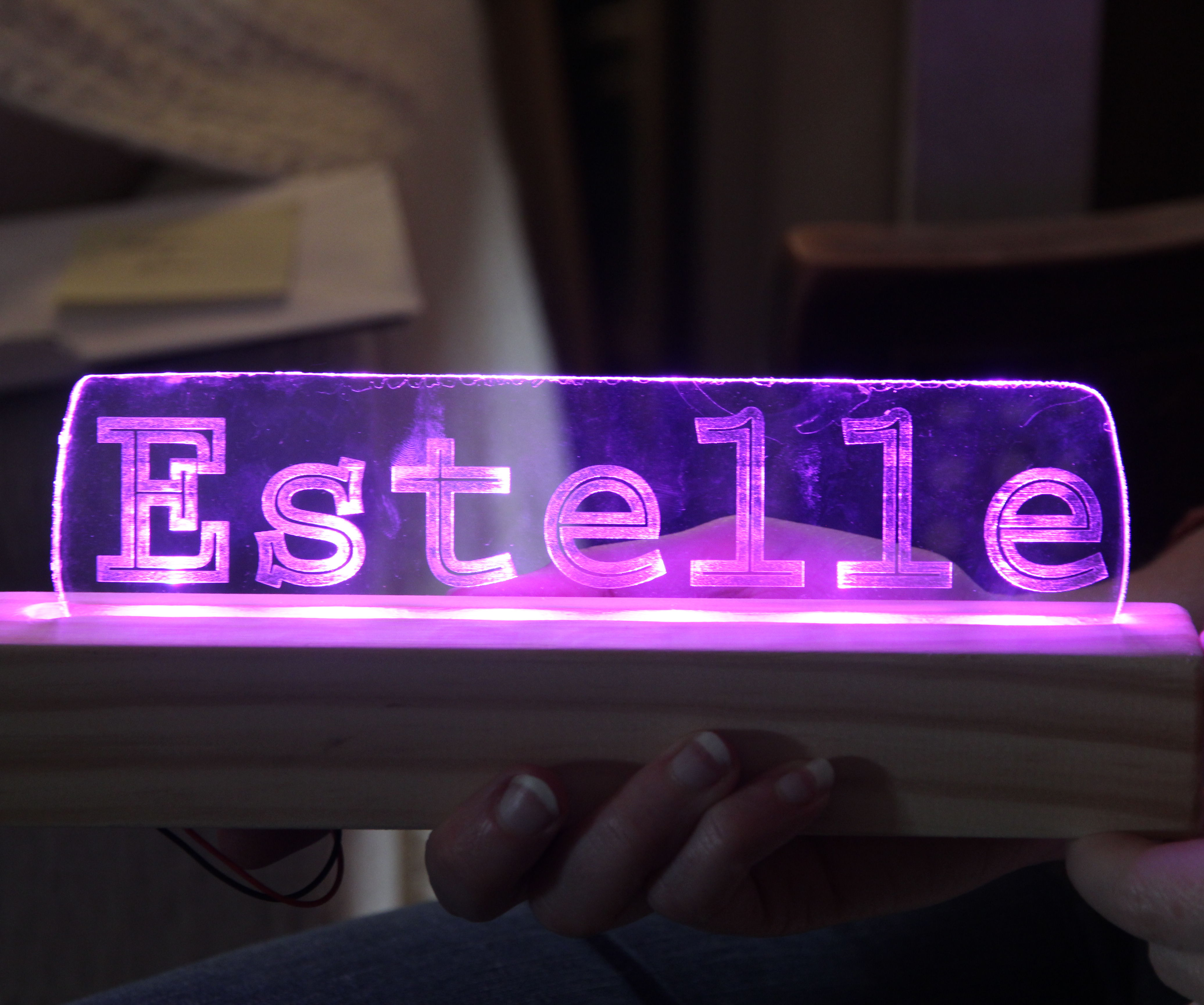 Glowing Nameplate
