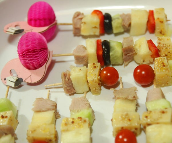 Classic 60's Cocktail Party - Cheese & Pineapple on Sticks & Flower Power Stacks