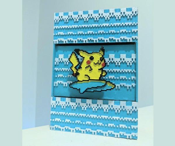 Surfing Pikachu Fountain