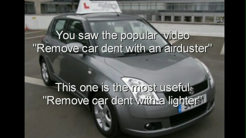 Remove car dent with a lighter !