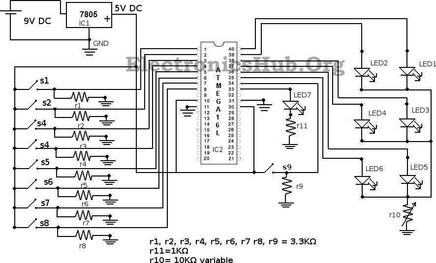 Boolean Algebra Calculator Circuit