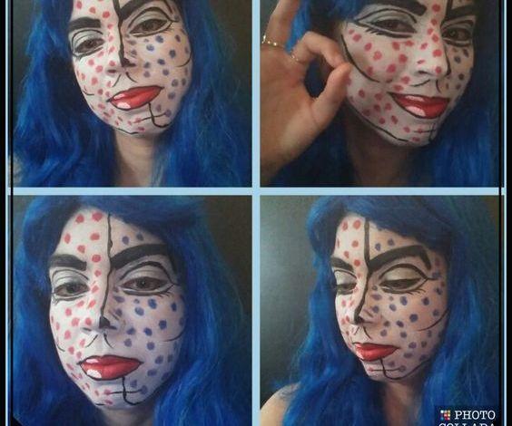 Pop Art Girl Face Paint