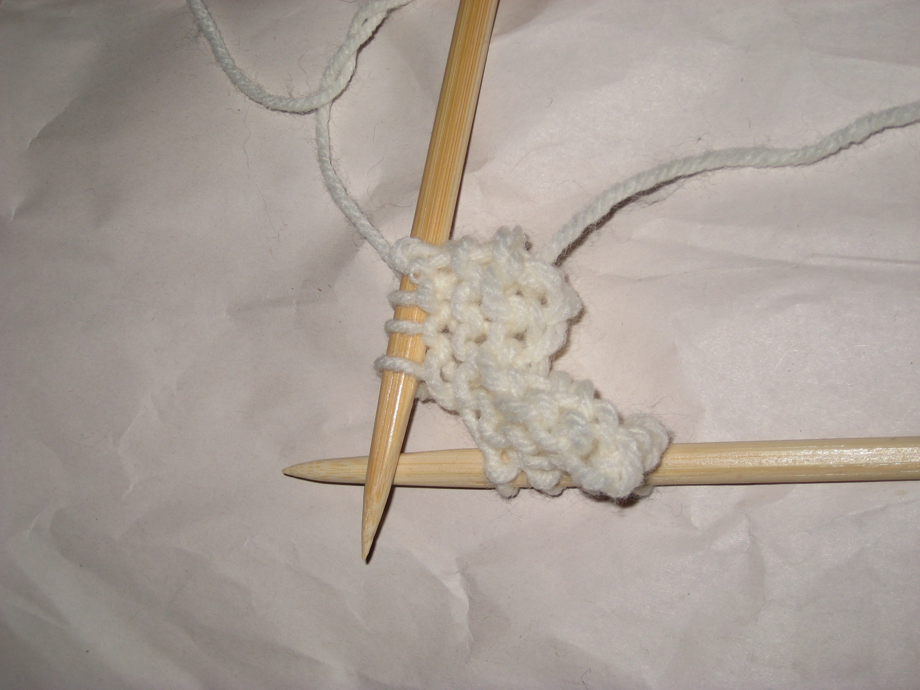 Turn disposable chopsticks into knitting needles