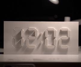 Kinetic & Digital Clock (Arduino + 3D Print)