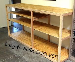 Build an Easy Storage Shelf System Using Pocket Holes.  Shop Fixture