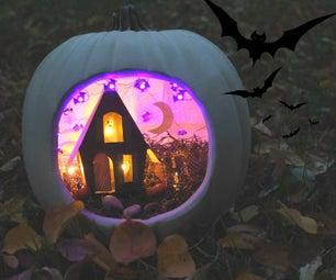 Haunted House Diorama Pumpkin