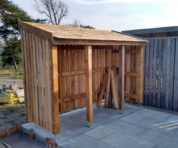 Locally Grown Larch WoodShed