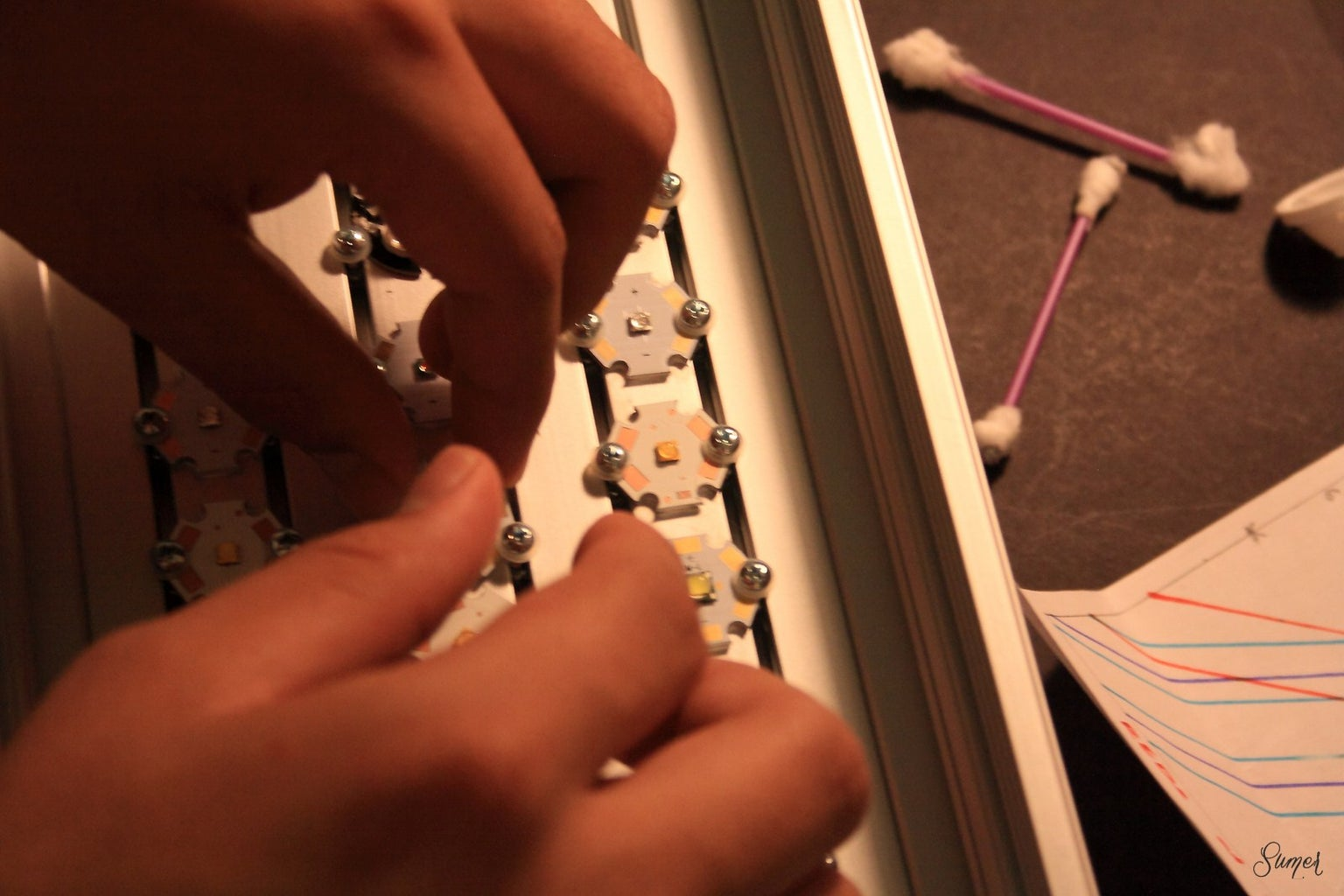 Positioning the LEDs on the Heat Sink