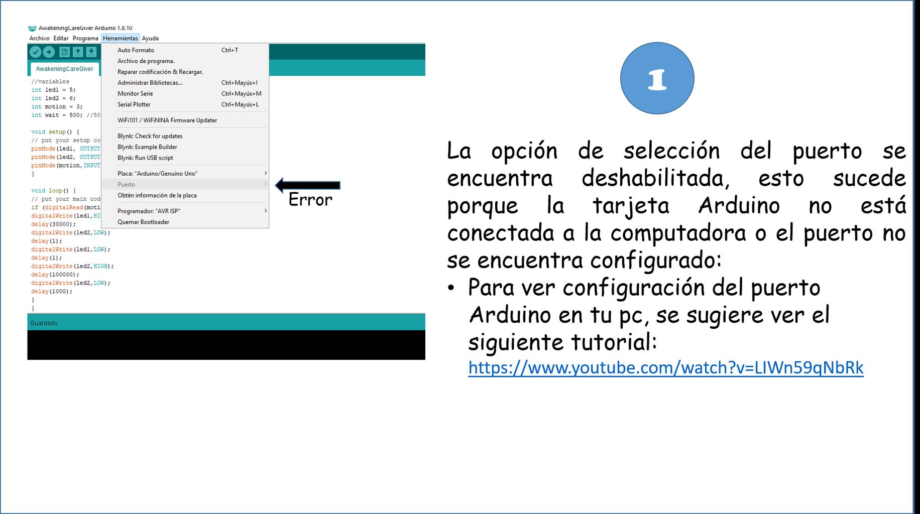 CONFIGURACIÓN DE LA TARJETA ARDUINO NANO