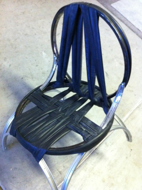 Rad Chair recycled rims and tubes
