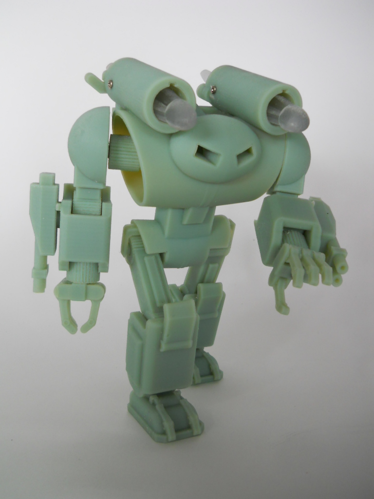 123D Design Fully Articulated Battle Robot Action Figure