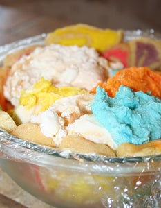 Fill the Mold With Ice Cream and Buttercream.