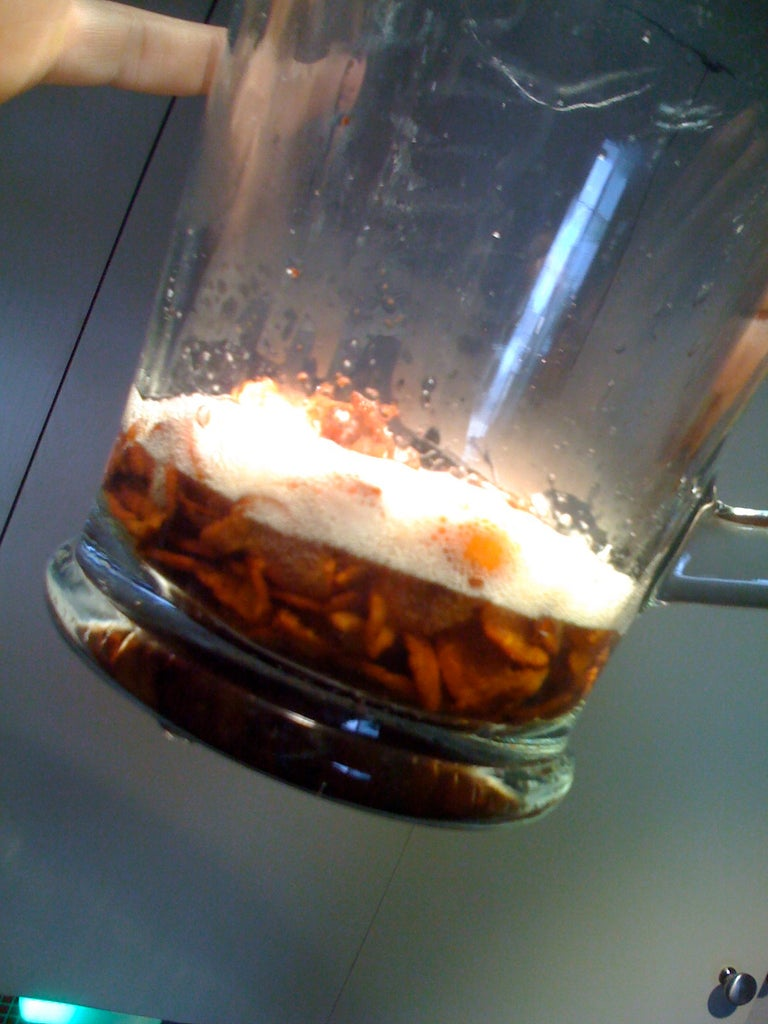 Pour Bacon and Grease Into Pitcher